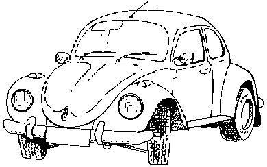 Art Stamps Stempel V.W. Beetle, schwarz