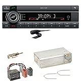 Kienzle MCR 1116 BT Bluetooth USB AUX Autoradio Einbauset für BMW E30 E34 E32