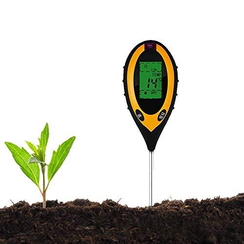 JIAOAOO Tester del Suolo, Tester del PH del Suolo Elettrico 4-in-1, igrometro per Giardinaggio e Agricoltura Senza Batteria, per promuovere Una Crescita Sana delle Piante