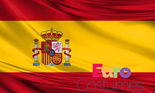 Bandera de España de poliéster gigante de 2,4 x 1,5 m