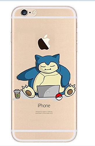 SufsTM Pokemon Go Pikachu Charizard Blastoise Squirtle Transparente Apple iPhone Caso Accesorio,...