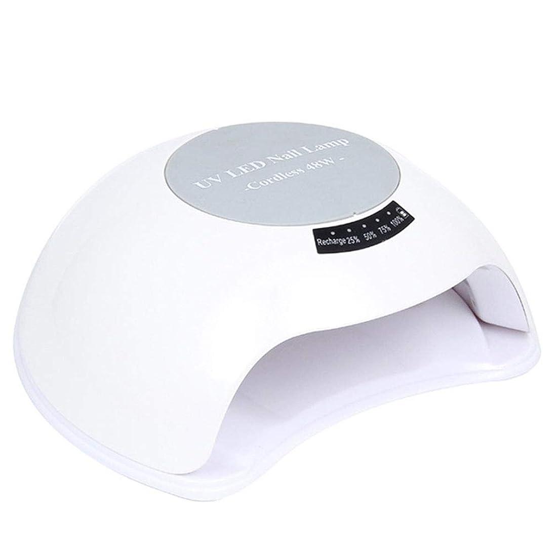 対読書をする修理工ジェルネイル用UVランプ、48Wネイルドライヤーセンサー90sタイマー付きネイル用UV / LEDランプ、すべてのジェルに適した取り外し可能な磁性プレート,White