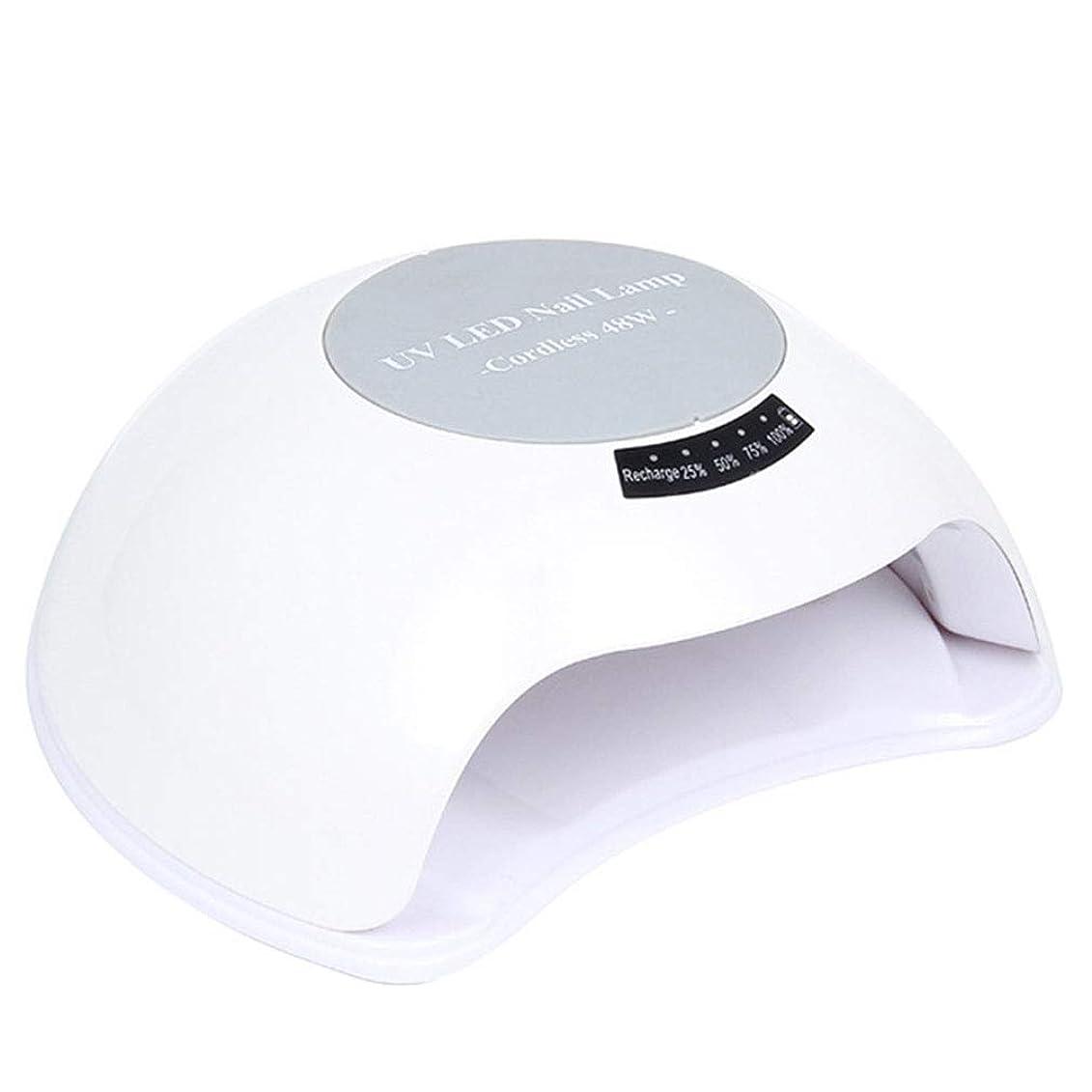 ジェルネイル用UVランプ、48Wネイルドライヤーセンサー90sタイマー付きネイル用UV / LEDランプ、すべてのジェルに適した取り外し可能な磁性プレート,White