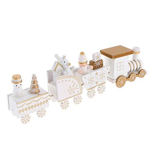 TOYANDONA Tema de Navidad Tren de Madera Decoración Escaparate de Madera Ornamento Diseño de Navidad Tren de Juguete Adorno de Navidad