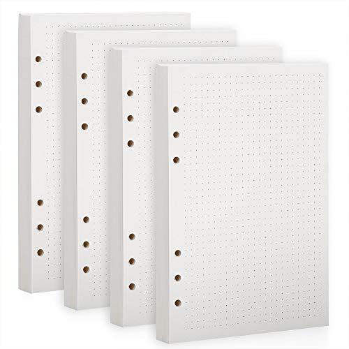 BESTOO A5 Papier Kariert,6 Löcher,100gsm,150 Blätter Nachfüllpapier Nachfüllbare Refill Paper Nachfülleinlagen für Notizbuch, Tagbuch