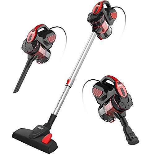 INSE Vacuum Cleaner Corded I5 Stick Vacuum Cleaner 18KPA Powerful Suction 600W Motor Multipurpose 3 in 1 Vacuum Cleaner Corded Red (Renewed)