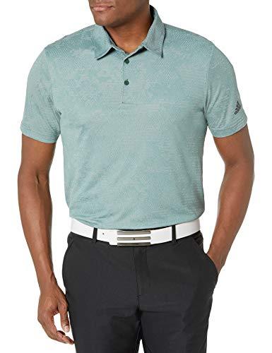 adidas Golf Men's Camo Primegreen Aero.rdy Polo Shirt, Green/Gray, Medium
