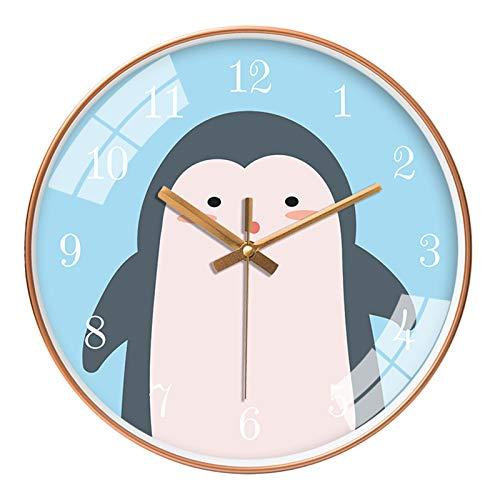 SWECOMZE Reloj de pared de 30 cm con diseño de animales pequeños
