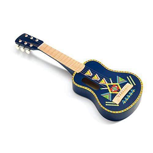 Djeco Guitarra 6 cuerdas metálicas Animambo Gitarre mit 6 Metallsaiten (36024), bunt