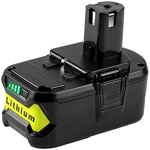 Forrat P108 6.0Ah 18V Replacement Battery for Ryobi 18V Lithium Battery P102 P103 P104 P105 P107 P109 P190 P191 P122 Ryobi 18-Volt ONE+ Plus Cordless Tool, 1Pack