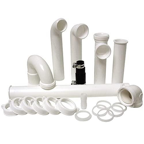 Plumb Craft Complete 1 1/2' O.D. Garbage Disposal Installation Kit, White (12 Pack)