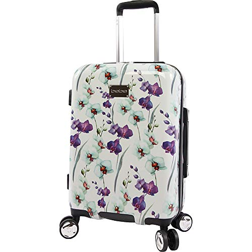BEBE Women's Alexandra 21' Hardside Carry-on Spinner, White Floral, One Size