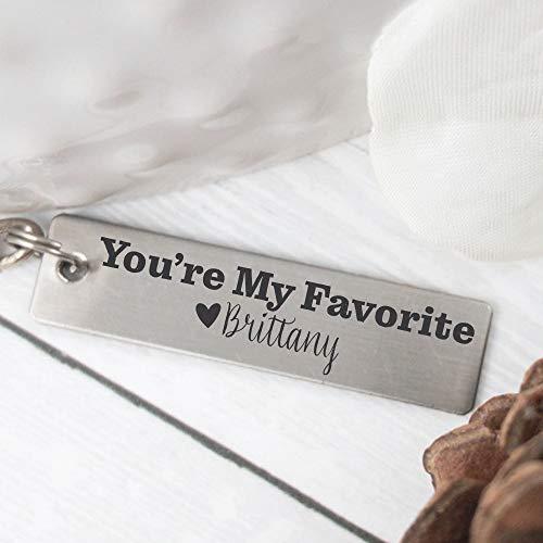 For Him Keychain Boyfriend Gift Husband Gift You're My Favorite Keychain Gift For Boyfriend Keychain Gift Personalized Keychain Birthday FAVORITE-KEYCHAIN