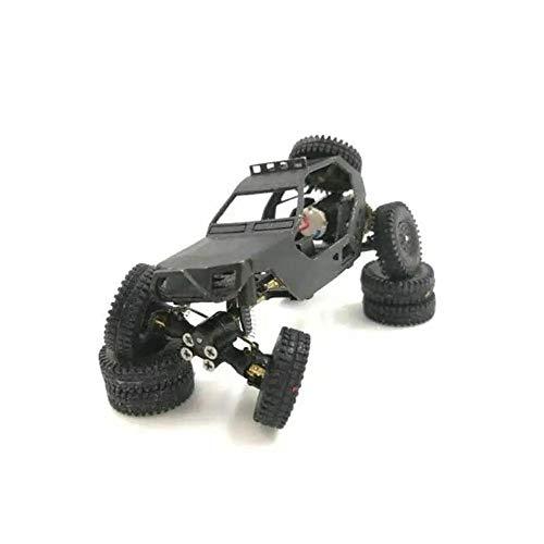 Auto Telecomando, Das87 Das87A03 Scala Ho 1/87 4WD Chassis Fai da Te Desert Truck Kit Crawler RC Auto Nera Regali per Bambini o Adulti (Color : Black, Size : One Size)