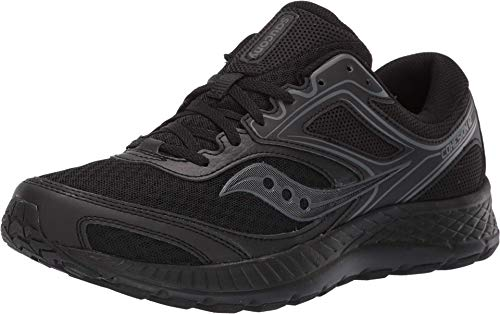 Saucony mens Versafoam Cohesion 12 Road Running Shoe, Black | Black, US