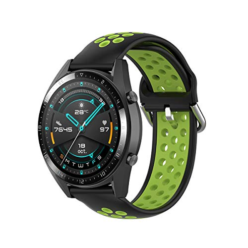 KOMI Correa de silicona para reloj de 20 mm, 22 mm, para mujeres y hombres