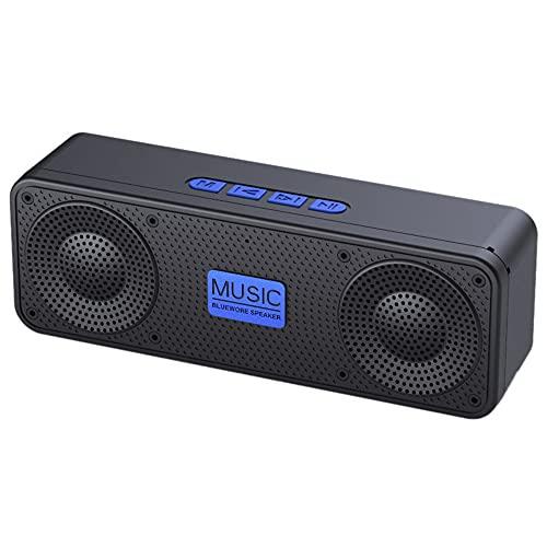 Altavoz Bluetooth BT 5.0 Sonido estéreo 1200mAh 10H Tiempo de música Micrófono Incorporado Altavoz inalámbrico portátil para Fiesta en casa