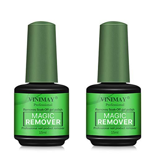 VINIMAY Herramienta de eliminación de esmalte de uñas de gel, removedor de esmalte de uñas mágico, kit de herramientas de eliminación de esmalte de gel