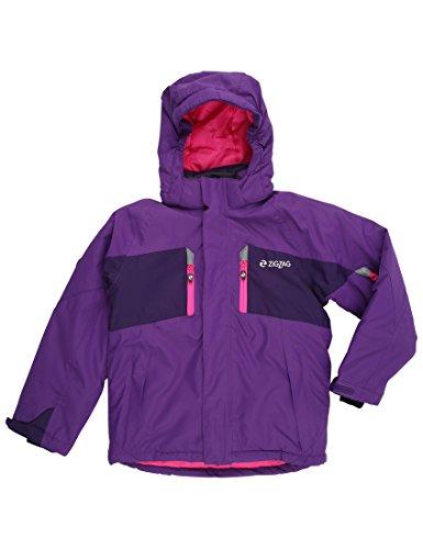 Ultrasport ZigZag Provo ski-jack kinderen - winterjas meisjes - snowboardjas jongens - outdoorjas waterdicht - hardshell jas zwart, grijs-zwart & lila