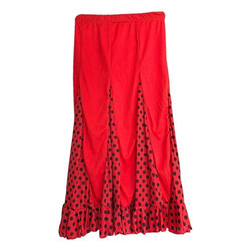 Vestido Rojo De Lunares Negros De Flamenca