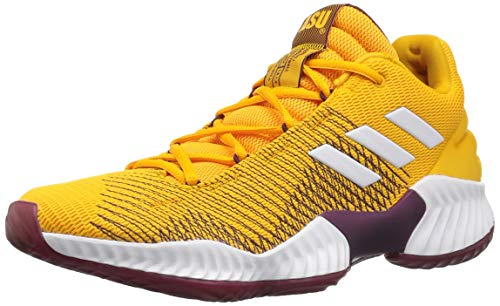 adidas Men's Pro Bounce 2018 Low Running Shoe, Collegiate Gold/White/Maroon, 9 M US