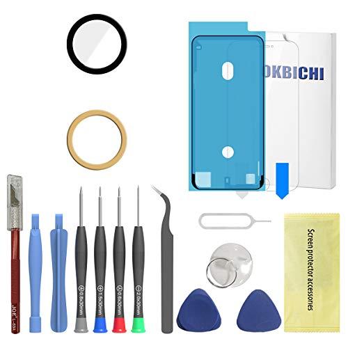 OKBICHI Lente de cámara trasera de repuesto para iPhone 7 y iPhone 8 - Herramientas de reparación con protector de pantalla