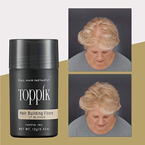 TOPPIK Hair Building Fibers Light Blonde, 1er Pack (1 x 12 g)