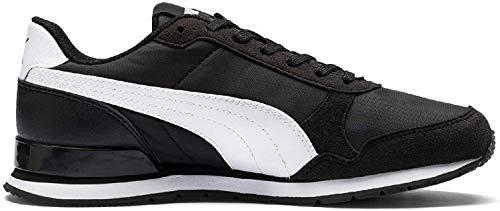 PUMA Unisex-Kinder ST Runner v2 NL Jr Sneaker, Schwarz Black White, 36 EU