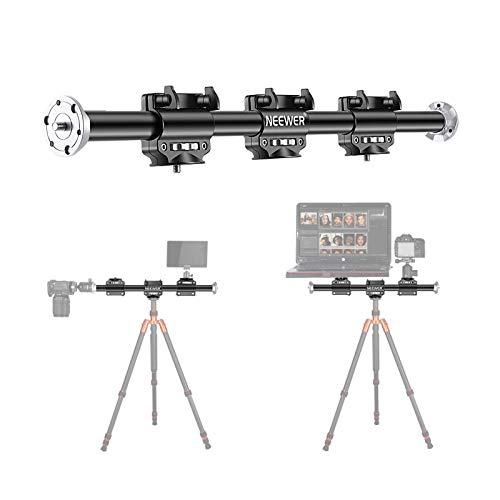 Neewer 62 cm Horizontaler Stativarm, Kamera Stativ Auslegerarm Verlängerungsarm mit 3/8-Zoll Schraube für Studio im Freien Makro Über Kopf-Fotografie, 5 kg Tragfähigkeit (nur Auslegerarm enthalten)