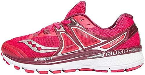 Saucony Triumph ISO 3, Zapatillas de Running Mujer, (Rosa/Baya Rojo/Plata/Blanco), 38 EU