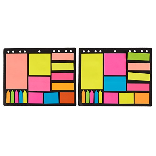 Divider Sticky Note Set, Includes Index Tabs, Bookmark Stickers, and Memo Flag (2 Pack, 600 Pieces)