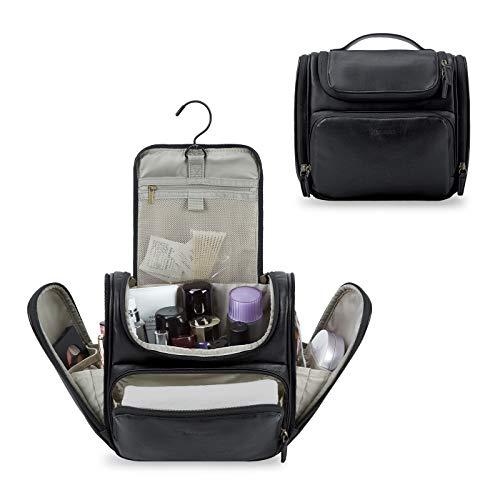 Kulturbeutel, BAGSMART Travel Dopp Kit für Frauen mit Aufhängehaken, wasserabweisendes großes Travel Kit PU-Leder für vollwertige Behälter, Bürstenrasur, Toilettenartikel