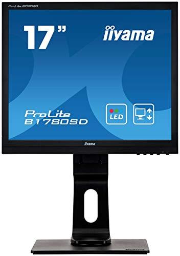 iiyama ProLite B1780SD-B1 43cm (17 Zoll) LED-Monitor SXGA (VGA, DVI, Höhenverstellung, Pivot) schwarz