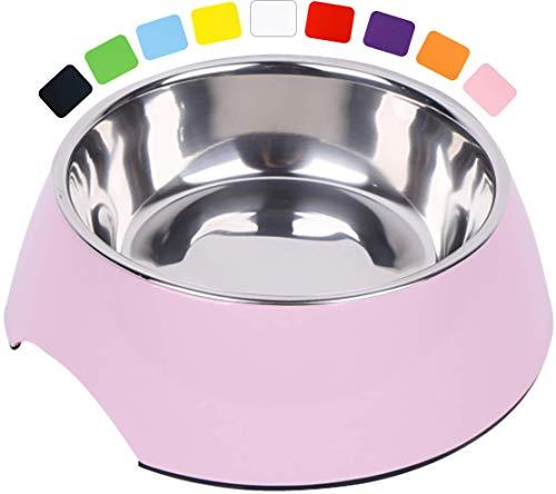 DDOXX Fressnapf, rutschfest | viele Farben & Größen | für kleine & große Hunde | Futter-Napf Katze | Hunde-Napf Hund | Katzen-Napf Edelstahl-Napf | Melamin-Napf | Rosa Pink, 160 ml