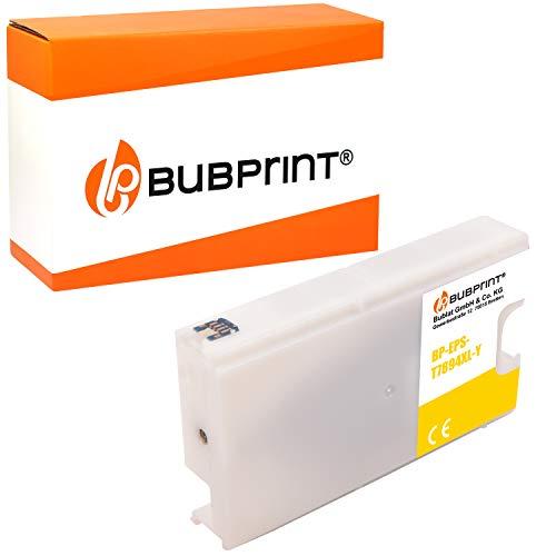Bubprint Druckerpatrone kompatibel für Epson T7894 für WorkForce Pro WF-5100 Series WF-5110DW WF-5190DW WF-5600 Series WF-5620DWF WF-5690DWF Gelb Neue Chip Version