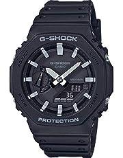 Casio GA-2100-1AER G-Shock Carbon Core Octagon Series Watch -Black