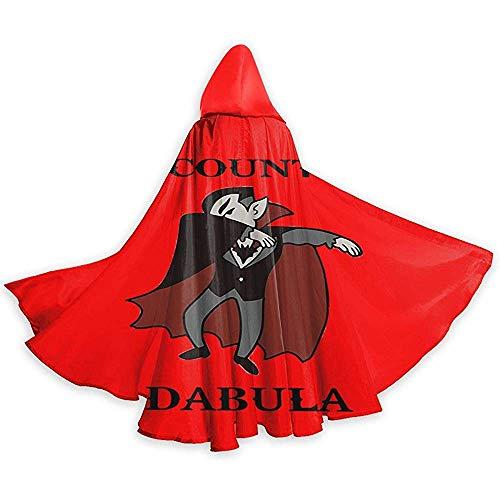 Niet applicable Dracula Halloween Funny (2) Unisex capuchon lange mantel met capuchon Halloween Kerstmis Cosplay Party kostuum zwart