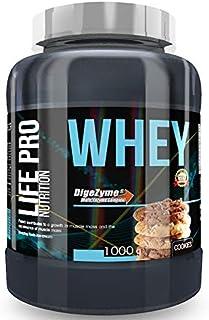 Life Pro Whey 1Kg | Suplemento Deportivo, 78% Proteína de Concentrado de Suero, Protege Tejidos, Anticatabolismo, Crecimiento Muscular y Facilita Períodos de Recuperación, Sabor Cookies