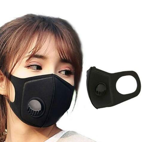 strylin Protective N95 Dust Mask, Adjustable PM2.5 Air Filter Mask, Breathing Valve Mask, Washable Mouth Cover Mask, Dustproof Safety Mask Respirator with Breath Valve for Anti-dust Smoke Gas Allergy