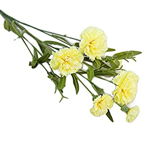 narutosak Artificial Flowers 1Pc Carnation Flower Fake Plant Home Decor Wedding Party Centerpieces – Yellow