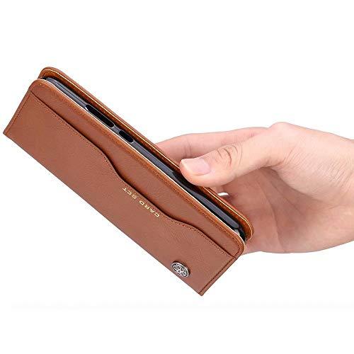 HUUH Hülle für Huawei P40 Pro,Handyhülle Vintage Leder,Bracket-Funktion,Kartensteckplatz Brieftasche Design,Hochwertiges PU-Leder,Magnetschnalle(schwarz) - 5