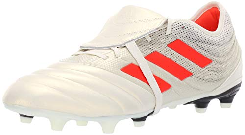 adidas Men's Copa Gloro 19.2 Firm Ground, Off White/Solar red/Black, 9 M US