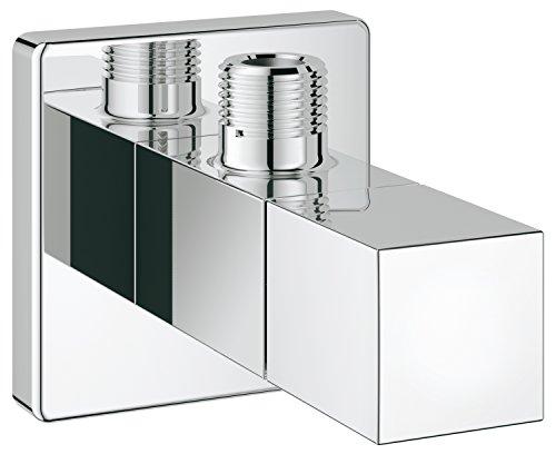 Grohe | Eurocube | Zekeringstechniek - hoekventiel | Wandaansluiting 1/2 inch, afvoer 3/8 inch met duwrozet | 22012000