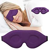 3D Sleep Mask, New Arrival Sleeping Eye Mask for Women Men, Contoured Cup Night Blindfold, Luxury Light Blocking Eye Cover, Molded Eye Shade with Adjustable Strap for Travel, Nap, Meditation, Purple