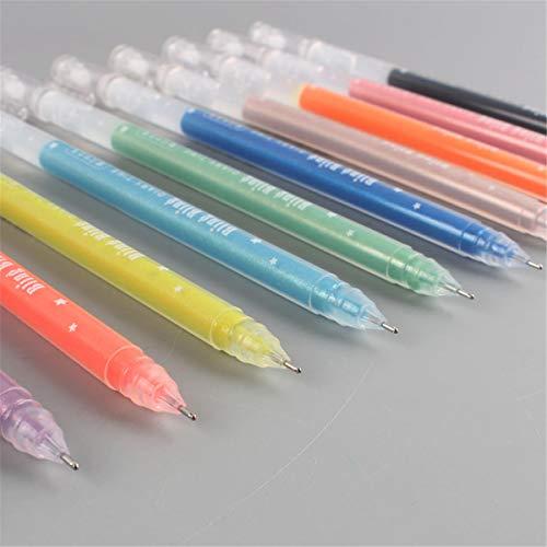 Tanmo 12 unids/lote 0.5 mm tinta blanca color foto álbum gel pluma papelería oficina aprendizaje c