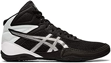 ASICS Men's Matflex 6 Wrestling Shoes, 9.5M, Black/Silver