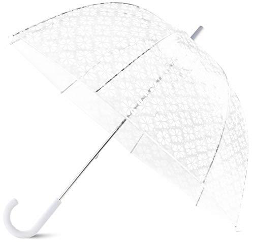 Kate Spade New York Large Dome Umbrella, White Spade Flower