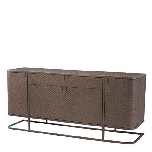Great Price! Woven Oak Dresser | Eichholtz Napa Valley | Mid-Century Modern Dutch Luxury Unique Styl...
