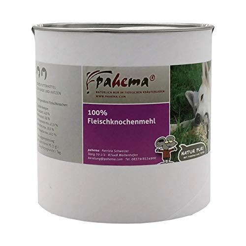 pahema Fleischknochenmehl - 100% Natur - Kalziumzusatz beim Barfen, Barf Ergänzung (1000 g)
