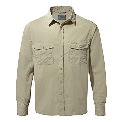Craghoppers Kiwi LS Shirt Camiseta para Senderismo, marrón Claro, L para Hombre